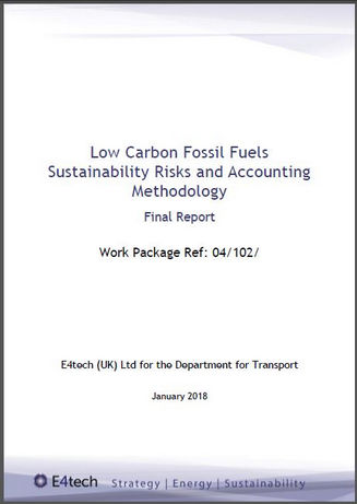 Low carbon fossil fuels sustainability risks and accounting methodology