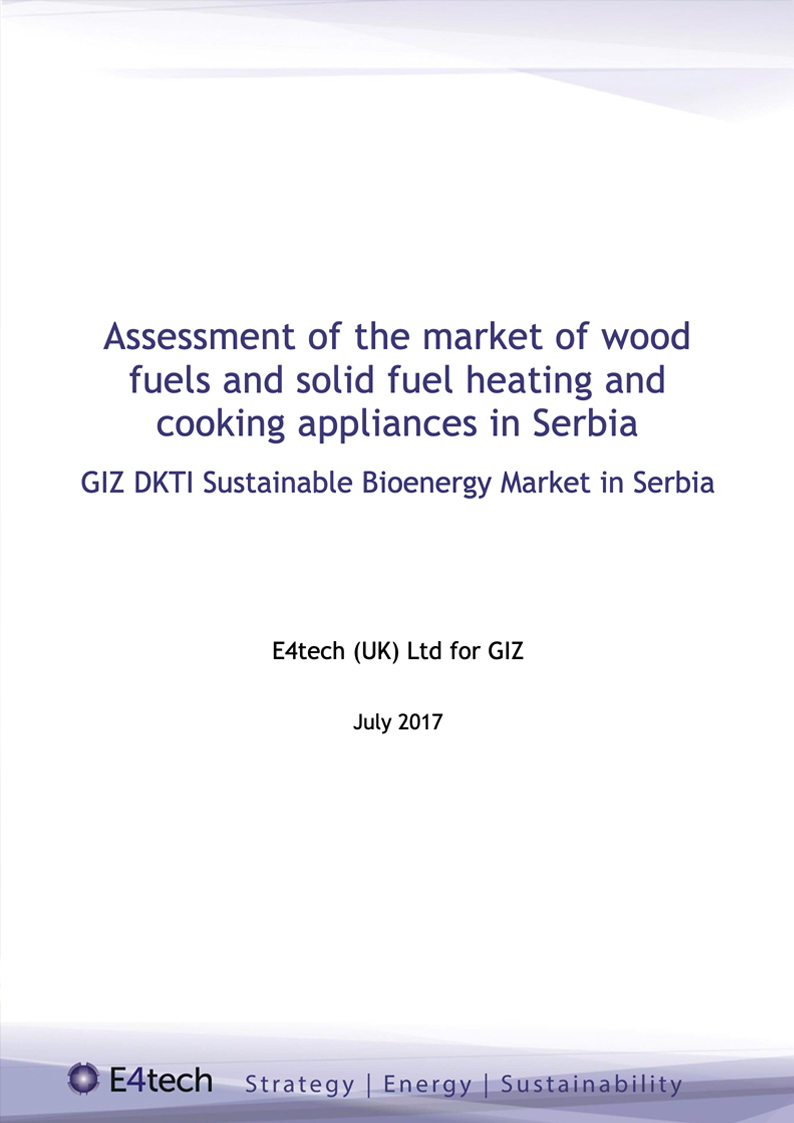 Assessment of the Market of Wood Fuels and Solid Fuel Heating and Cooking Appliances in Serbia