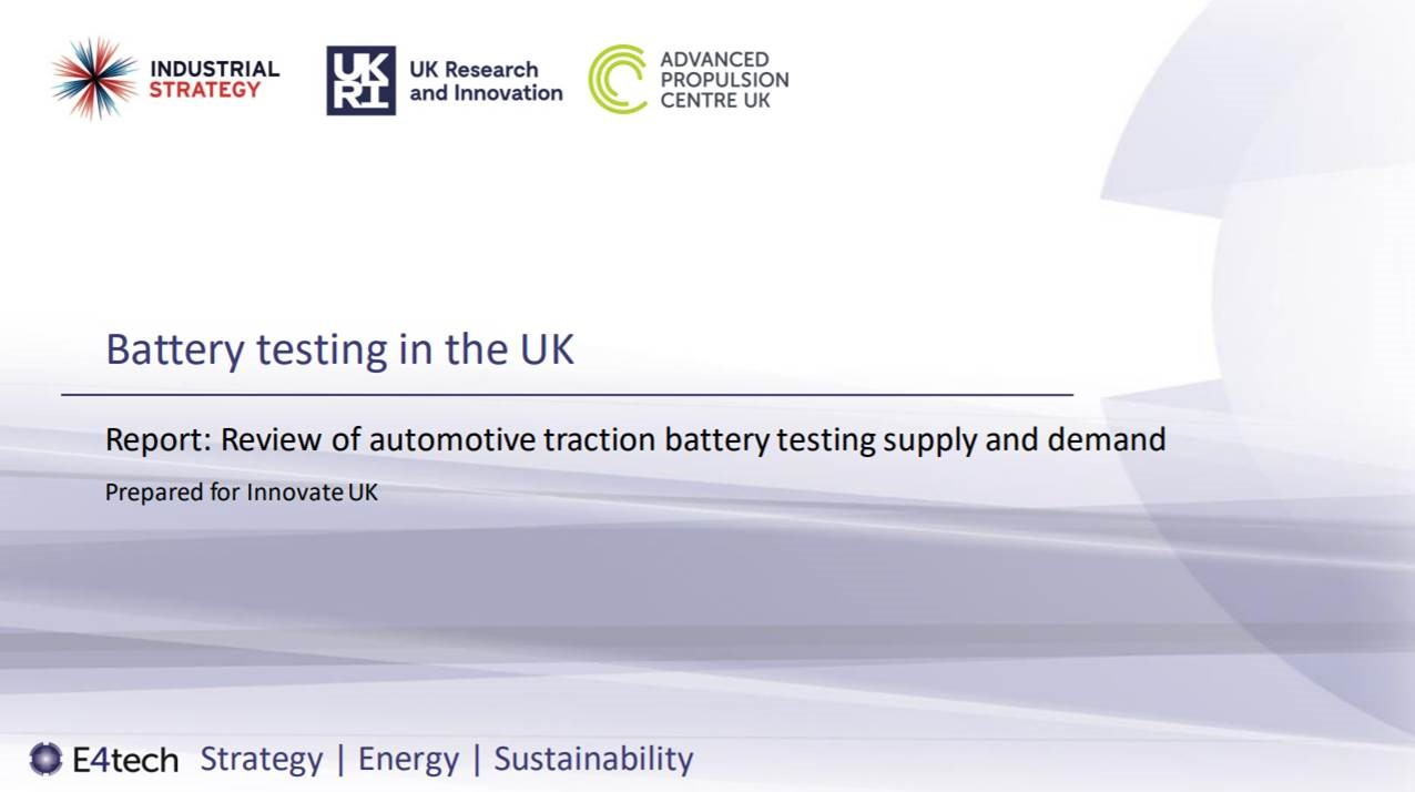 UK battery testing facilities needed to amp up EV sector