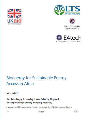 Bioenergy for Sustainable Energy Access in Africa – A scoping study of the opportunities and challenges of bioenergy replication across Sub-Saharan Africa 2017