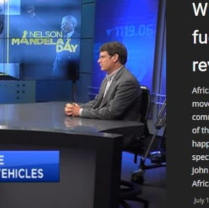 E4tech Director Dr David Hart discusses fuel cells on CNBC TV in S Africa